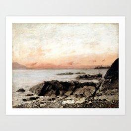 Sunset, Vevey, Switzerland Art Print