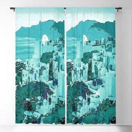 Blue city Blackout Curtain