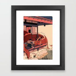 Tell a Dragon Colorful Stories Framed Art Print