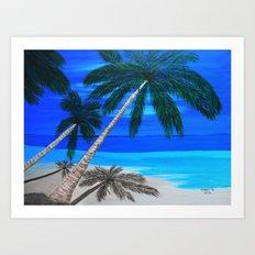 White sand beach  Art Print