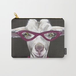Goat Painting, Unique Farm Animal Carry-All Pouch