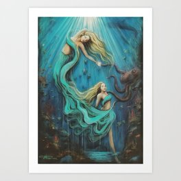 The Mermaid's Gift Art Print