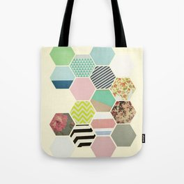 Florals and Stripes Tote Bag