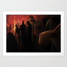 The Ravenous Undead Art Print