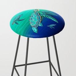 Sea Turtle Turquoise Oceanlife Bar Stool