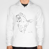 wind Hoodies featuring Horse (Wind) by Paper Horses