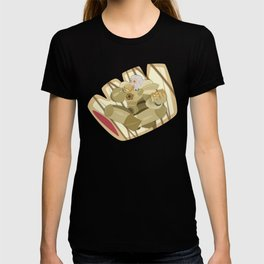 Donuts - Glazed Bear Claw with Raspberry Filling T-shirt