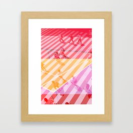 pedestrian pathway color Framed Art Print