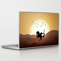 the legend of zelda Laptop & iPad Skins featuring Legend Of Zelda Link by Inara