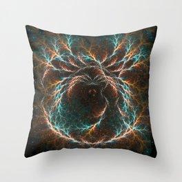 Spiral Nebula Mandala Throw Pillow