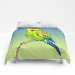 Cute budgie Comforters