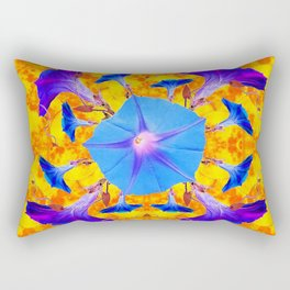 Baby Blue & Purple Morning Glories Art Rectangular Pillow
