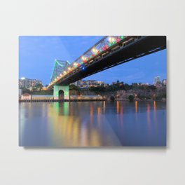 Christmas Bridge Metal Print