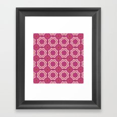 Moroccan Textured Tile Framed Art Print