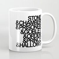 harry potter Mugs featuring Harry Potter Ampersand by alison