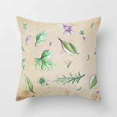 Parsley, Sage, Rosemary and Thyme Throw Pillow