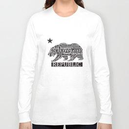 New Cali Bear Shirt California Republic Men's California t-shirts Long Sleeve T-shirt