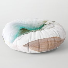 Waves - The Wedge Newport Beach CA Floor Pillow
