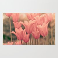 tulips Area & Throw Rugs featuring Tulips by Maria Heyens
