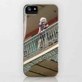 New Orleans Lady Mannequin on a Balcony iPhone Case