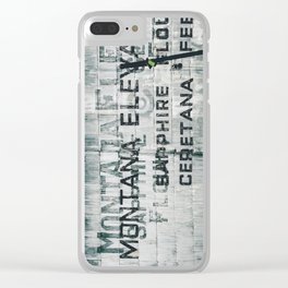 Ghosts of Montana Clear iPhone Case