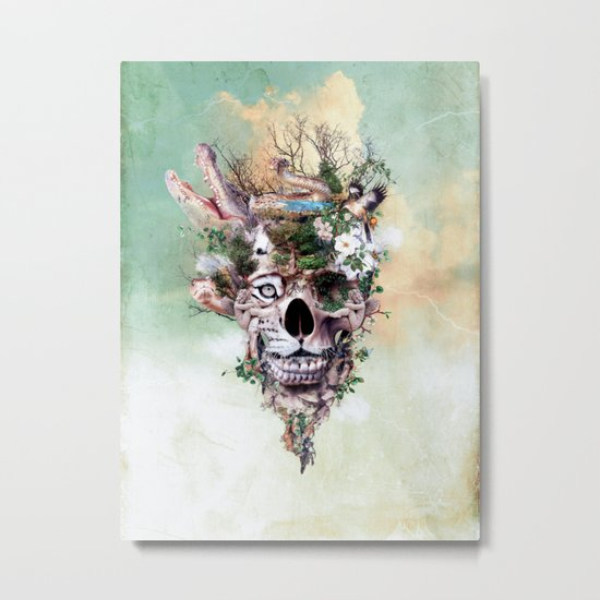 Nature Skull II Metal Print
