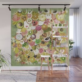 Fruit Madness (All The Fruits) Vintage Wall Mural