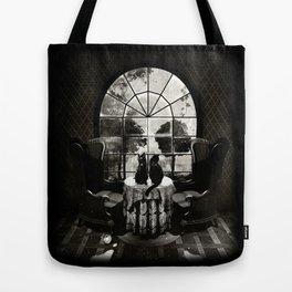 Room Skull B&W Tote Bag