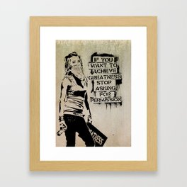 Banksy, Greatness Framed Art Print