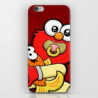 elmo iPhone & iPod Skins featuring Baby Elmo & Dorothy by BinaryGod.com