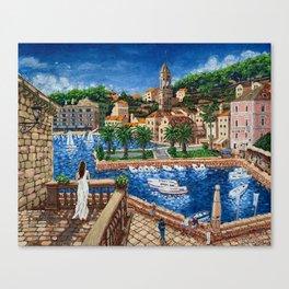 Port of Hvar, Croatia Canvas Print