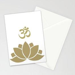 OM Lotus Stationery Cards