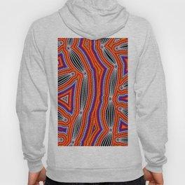 Authentic Aboriginal Art - Neurum Creek Bush Tracks Hoody