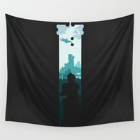 sword Wall Tapestries featuring The Buster Sword by Moombax