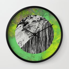Devoid of Colour - Abstract, geometric, black and white, colour art Wall Clock