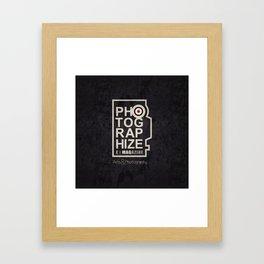 PhotographizeMag Framed Art Print