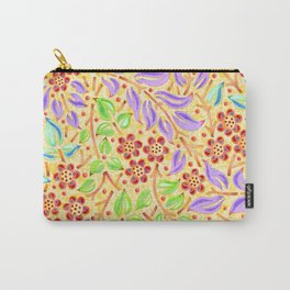 Sunshine Filigree Floral Carry-All Pouch