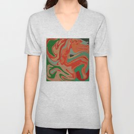 Abstract Colorful Pattern Unisex V-Neck