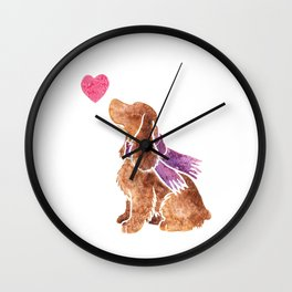 Watercolour English Cocker Spaniel Wall Clock