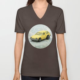 Yellow Hot Wheels Packin' Pacer 1977 Unisex V-Neck