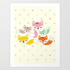 The Magical Foxes II Art Print