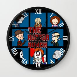 The Horror Bunch: Slashers Unite Wall Clock