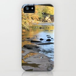 Fiery Fall Reflections iPhone Case