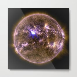 Sun with Solar Flare Metal Print
