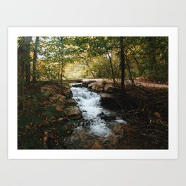October rushing river Art Print