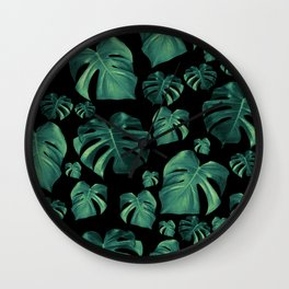 Tropical Monstera Pattern #4 #tropical #decor #art #society6 Wall Clock
