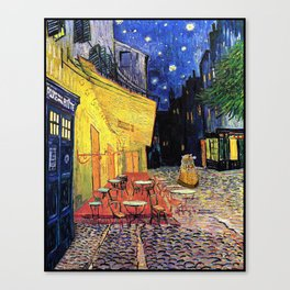 Dr. Who at Cafe Terrace Canvas Print