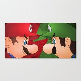 Mario vs Luigi Canvas Print