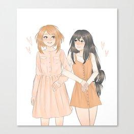 Uraraka and Tsuyu Canvas Print