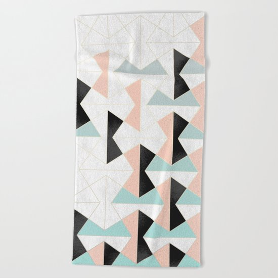 Mixed Material Tiles Beach Towel